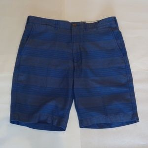 Cremieux Size 33 MADISON Blue Cotton Shorts